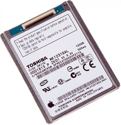 iPod Classic 6th Gen 6 6G Replacement 120GB Hard Drive MK1231GAL HS12YHA Toshiba Samsung