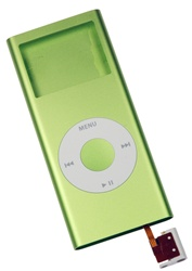iPod Nano 2nd Gen Shell Case Assembly Green
