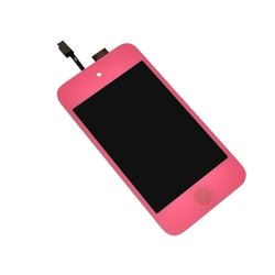 iPod Touch 4th Gen 4 4G Front Glass Panel Digitizer LCD Screen Assembly Hot Pink with Home Button