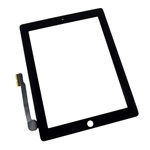 iPad 4 Front Panel Touch Screen Glass Digitizer Black Replacement