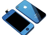 iPhone 4 Full LCD Digitizer Back Housing Dark Mirror Blue Conversion Kit (GSM)