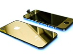 iPhone 4S Full LCD Digitizer Back Housing Gold Conversion Kit