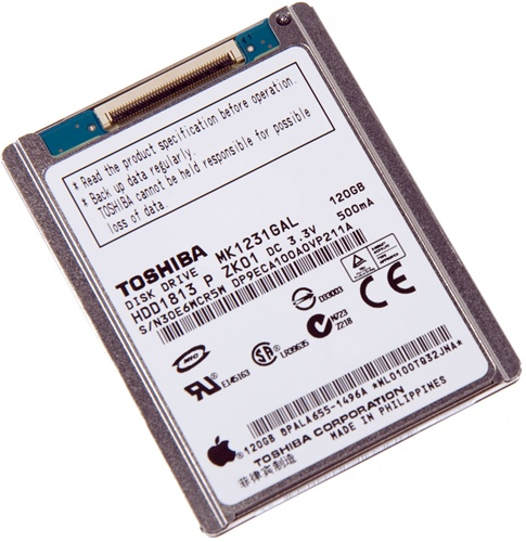 detailed look 57d73 07b21 iPod Classic 6th Gen 6 6G Replacement 120GB Hard Drive MK1231GAL HS12YHA