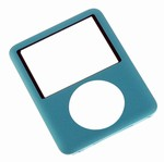 iPod Nano 3rd Gen Front Cover Panel Blue