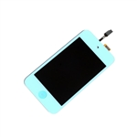 iPod Touch 4th Gen 4 4G Front Glass Panel Digitizer LCD Screen Assembly Light Blue with Home Button