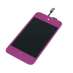 iPod Touch 4th Gen 4 4G Front Glass Panel Digitizer LCD Screen Assembly Purple with Home Button