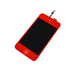 iPod Touch 4th Gen 4 4G Front Glass Panel Digitizer LCD Screen Assembly Red with Home Button