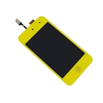 iPod Touch 4th Gen 4 4G Front Glass Panel Digitizer LCD Screen Assembly Yellow with Home Button