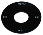 iPod Video Plastic Click Wheel Cover Black