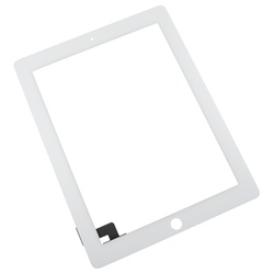 iPad 2 Front Panel Touch Screen Glass Digitizer White Replacement