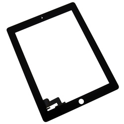 iPad 2 Front Panel Touch Screen Glass Digitizer Black Replacement