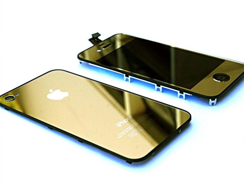 iphone 4 full lcd digitizer back housing gold conversion. Black Bedroom Furniture Sets. Home Design Ideas
