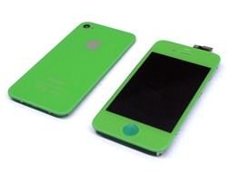 iPhone 4 Full LCD Digitizer Back Housing Green Conversion Kit GSM