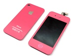 iPhone 4 Full LCD Digitizer Back Housing Pink Conversion Kit GSM